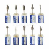 10Pcs Dental Lab Polishing Bur Drills Tungsten Steel Carbide Burs Bits 2.35MM US