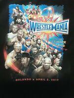 WWE Wrestlemania 33 Shirt 2017 Orlando T Shirt XL Undertaker Cena Goldberg WWF