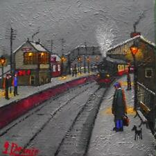 Original BEST Oil Painting Noted Artist James Downie : Whaley Bridge Station