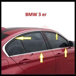 modanature Profili Contorno Finestrini Raschiavetri Acciaio Cromo BMW Ser 3 F30