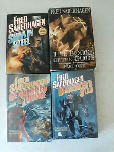 4 hardcover books by Fred Saberhagen Berserker series