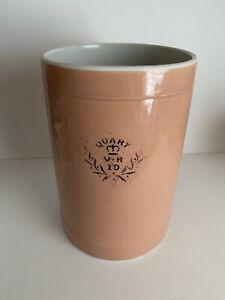 Antique.Quart.V.R 19.Measure.Tankard. Mug.Mochaware. Bar.Pub