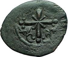 JESUS CHRIST Class I Anonymous Ancient 1078AD Byzantine Follis Coin CROSS i66450