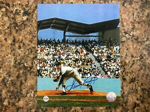 Sandy Koufax Autographed 8x10 Photo with Certificate of Authenticity