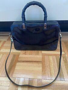 Gucci Black Bamboo Classic Handbag