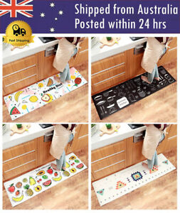 Cartoon Home Non-slip Waterproof And Oil-proof Strip PVC Leather Kitchen Mat
