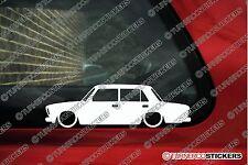 2x basse voiture outline stickers-pour lada riva berline VAZ-2107