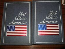 lot vintage anything book blank journal sketch pad diary lined God bless america