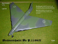 Messerschmitt Me p.1108/ii 1/72 Bird models resinbausatz/resin Kit