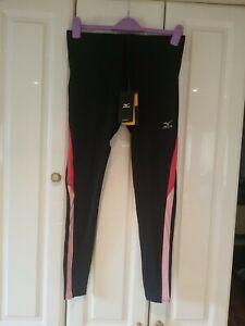 BNWT Mizuno Black & Pink Womens Performance Leggings Large