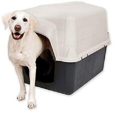 "Petmate Dog House 50-90 Lbs , Large, Tan/Black, 39""L x 29""W x 30""H Barnhome"