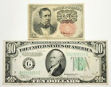 1874 10 Cent Fractional Currency Note & 1934 $10 Federal Reserve Note.