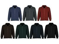 New Men Classic Full Zip Micro Fleece Jacket Casual Work with Two Front Pockets