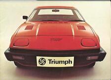 Triumph TR7 (1er TR7 brochure) 1976 la brochure commerciale