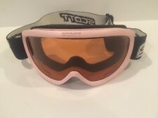 SCOTT Jr. Ski Goggles GIRLS PINK BLACK WITH ADJ ELASTIC BANDS USED GREAT SHAPE