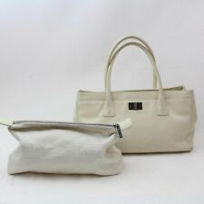 c400a841ee83 Chanel 2.55 Reissue Cerf Ivory Caviar Executive White Leather Tote 869763