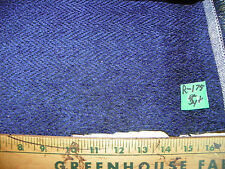 Blue Chevron Print Chenille Fabric / Upholstery Fabric 1 Yard R175