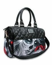 Liquorbrand Eternal Bliss Round Bag Sugar Skull Gothic Rockabilly Wiccan Handbag