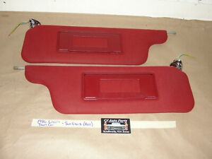 OEM 86 Lincoln Town Car 4 Dr SUN VISORS WITH VANITY LIGHTS LIGHTED MIRRORS~ PAIR