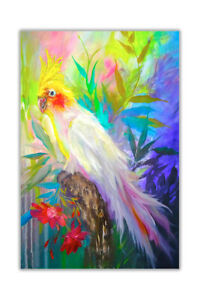 Tropical Parrot Poster Prints Wall Art Decoration Oil Painting Re-print