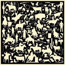 "Wyoming Traders Wild Rags Cowboy Silhouette Print 100% Silk Western Scarf 34.5"""