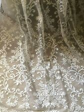 "BEAUTIFUL  NEW 60""X90"" VINTAGE FRENCH STYLE LACE/NET CURTAIN PANELS"