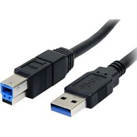 StarTech USB3SAB6BK 6 ft Black SuperSpeed USB 3.0 Cable A to B - M/