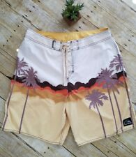 Quiksilver Men's Shorts Surf Swim Size 36 Casual Boardshorts Beach ~ Palm Trees