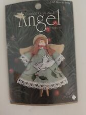 Counted Cross Stitch Angel Ornament 1465 Dove & Holly Clothespin Ornament