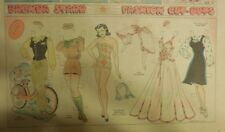 Brenda Starr Sunday with Large Uncut Paper Dolls from 4/12/1942 Full Size Page