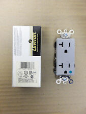 New Leviton Gray Decora Hospital grade receptacle duplex 16362-HGG Fire Alarm