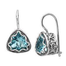 Silpada 'moonburst' Blue Cubic Zirconia Drop Earrings in Sterling Silver
