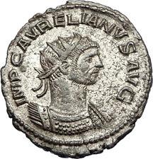 AURELIAN receives WREATH Genuine 270AD Authentic Ancient Roman Coin i65681