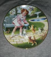 A Danbury Mint Friday's Child Collectors Plate Children Of The Week Kittens