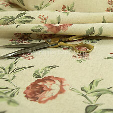 Berry floral patterned curtain Fabric//Material 140cm wide Emilie
