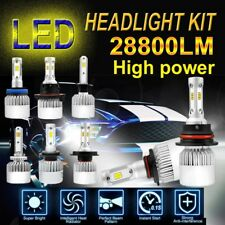 H11 9005 LED Total 1960W 294000LM Combo Headlight High Low 6000K White Bulbs