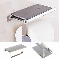 Tissue Holder Stand Toilet RollPaper Dispenser Wall Mounted Bathroom Silver Rack