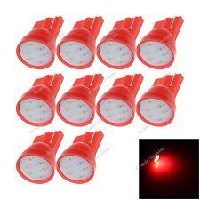 10X Car Red 1 LED COB SMD T10 12V W5W Wedge Side Light Bulb Indica Lamp A068