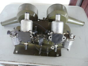 MG MIDGET ORIGINAL CARBURETTERS & AIR CLEANERS NO RESERVE