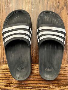 Adidas Youth Slides Size K3 Black Unisex