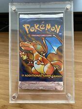 Pokemon Base Set Booster Black Triangle Pack Sealed 1999 Vintage Heavy Charizard