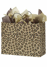 Paper Bags 25 Large Leopard Skin Retail Merchandise Shopping Cheetah 16 X 6 X 12