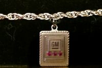 NIB GM EMPLOYEE SERVICE AWARD  Bracelet: 1/20 12k: 3 Red Rubies; Automotive