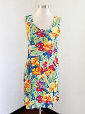 Jams World Floral Print Sleeveless Casual Dress Size 11 / M Pockets Beach