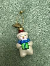 Thomas Pacconi Advent Calendar Replacement Glass Ornament Day #22 Snowman Scarf
