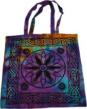 Goddess Tie Dye Tote Bag Shopping Bag Wiccan Pagan Altar Supply 74GPT