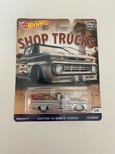 Hot Wheels Shop Trucks - Custom 62 Chevy Pickup Ute CHAMPION 1/5 - FREE POSTAGE