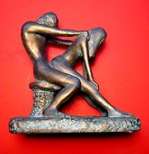 Vintage 1970's Erotic Sensual Position NudeCouple MCM Statue Nice Art Piece