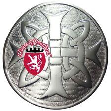 Homme /Écossais Kilt Mouche Plaid Broche Noeud Celtique Rond Finition Antique 3// Highland /Épingle /& Broches