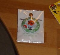 Pokemon Center Limited Button Badges YAYAKOMA with YOU MADE IN JAPAN ULTRA RARE